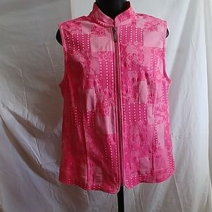 Christopher Banks pink denim stretch Vest